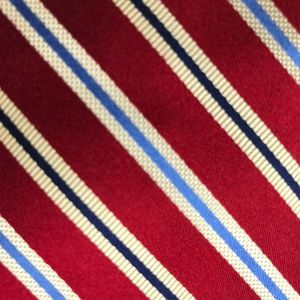 Jos. A. Bank Red Striped Silk Necktie A050705